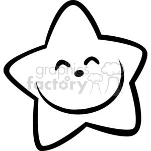 cartoon funny comical vector star stars black+white happy smile