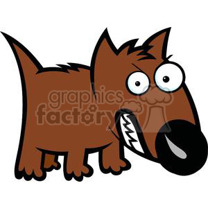 angry dog cartoon clipart. Commercial use image # 380009