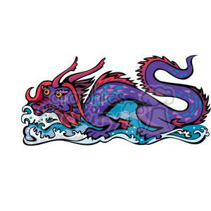 purple Chinese dragon clipart. Commercial use image # 380021