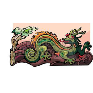 chinese dragon clipart. Royalty-free image # 380026