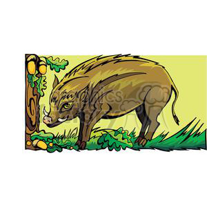 wild boar in the woods clipart. Royalty-free image # 380056