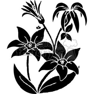 61-flowers-bw clipart. Royalty-free image # 380066