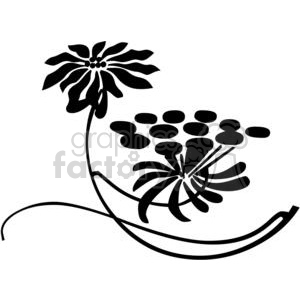 25-flowers-bw clipart. Commercial use image # 380076