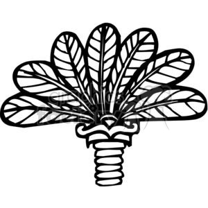 vinyl-ready vector black white flower flowers floral nature organic design designs elements leafs plant feathers feather palm branch
