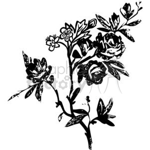 42-flowers-bw clipart. Royalty-free image # 380126
