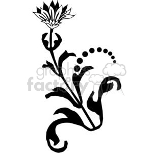 78-flowers-bw clipart. Commercial use image # 380146