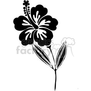 vinyl-ready vector black white flower flowers floral nature organic design designs elements Hawaii Hawaiian hibiscus