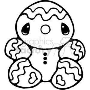 GingerBread Man clipart. Royalty-free image # 380161