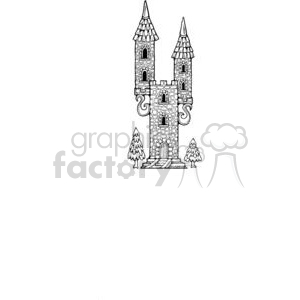 cartoon Castle clipart. Royalty-free image # 380176