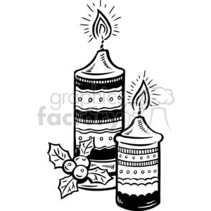 lit candles clipart. Commercial use image # 381111