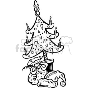 Christmas tree clipart. Royalty-free image # 381131