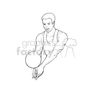 Sport144-bw clipart. Commercial use image # 381152