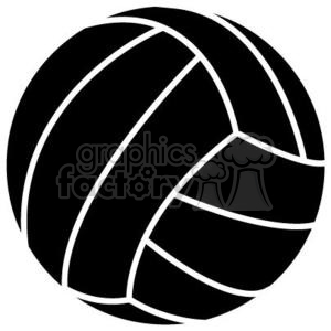 black volleyball clipart. Commercial use image # 381197