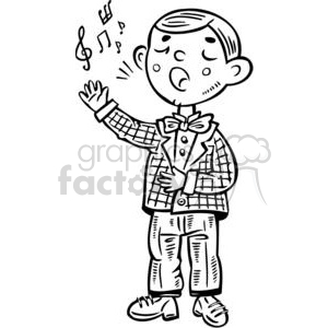 school choir boy clipart. Royalty-free image # 381532