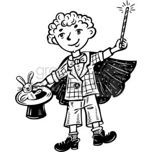 kid magician  clipart. Commercial use image # 381557