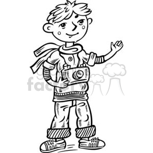 cartoon children child kid kids people little black white boy boys photo photographer photographers camera cameras small young pictures