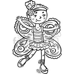 girl dressed up like a fairy princess clipart. Royalty-free image # 381582