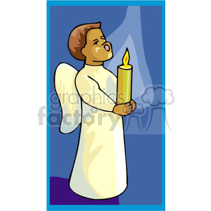 African american boy angel clipart. Royalty-free image # 164252