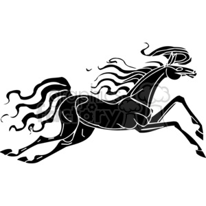 creative horse running clipart. Royalty-free image # 383634