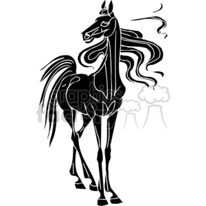 standing horse design clipart. Commercial use image # 383644