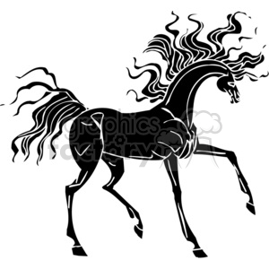 creative horse hair design clipart. Commercial use image # 383649