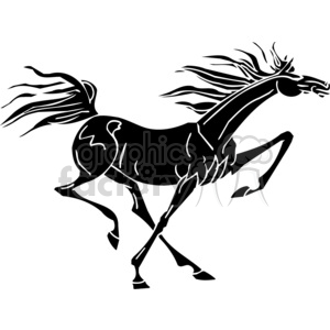 creative  mustang horse running design clipart. Commercial use image # 383654