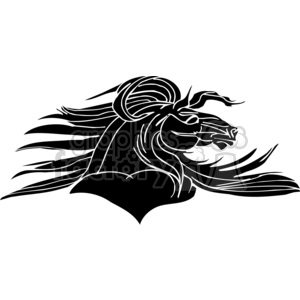 vinyl-ready vector black white creative design horse horses stylish graceful tattoo animal