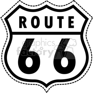 vector Route 66 clipart. Commercial use image # 383686