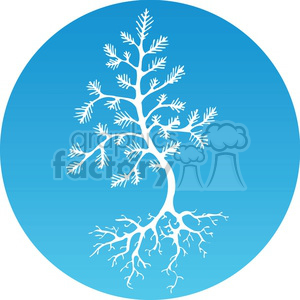 Christmas tree of life clipart. Royalty-free image # 383701