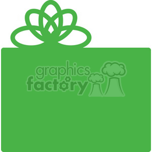 green gift clipart. Commercial use image # 383706