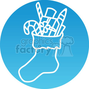 Christmas stocking icon clipart. Royalty-free image # 383726