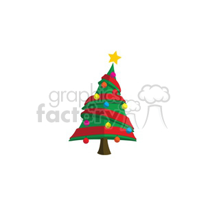cartoon Christmas tree design clipart. Royalty-free icon # 383731