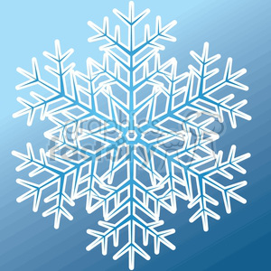 vector snowflake on blue background clipart. Royalty-free image # 383746
