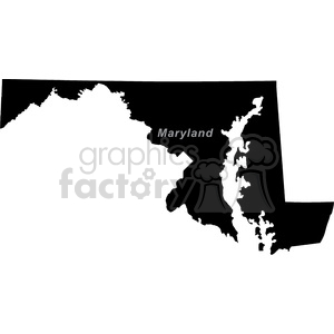 MD-Maryland clipart. Commercial use image # 383771
