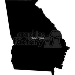GA-Georgia clipart. Commercial use image # 383791