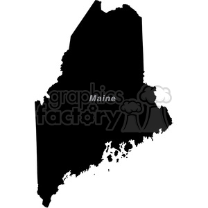 USA United+States black+white vector outline America ME Maine