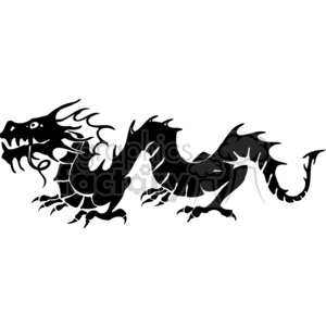 chinese dragons 014 clipart. Royalty-free image # 383850