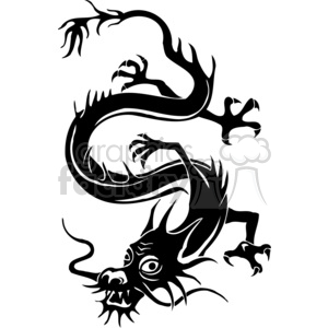 chinese dragons 003 clipart. Royalty-free image # 383865