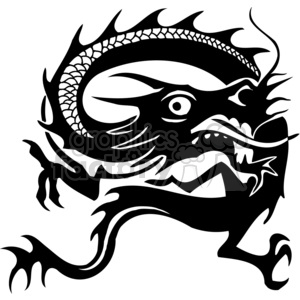 chinese dragons 030 clipart. Royalty-free image # 383870