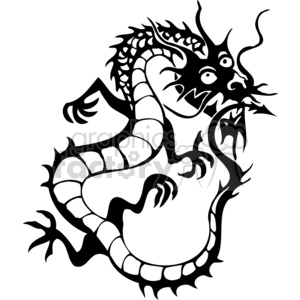 chinese dragon picture clipart. Royalty-free image # 383885