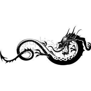 chinese dragons 015 clipart. Royalty-free image # 383895