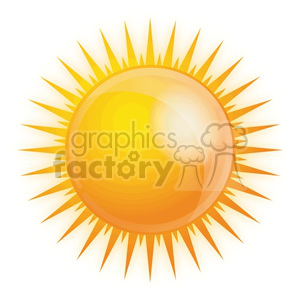 vector sun clipart. Commercial use image # 383903