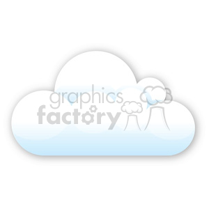 vector cartoon cloud clipart. Royalty-free image # 383908