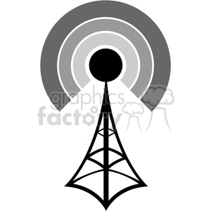 cell-tower-black-signal clipart. Commercial use image # 383923