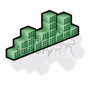 green-cubes clipart. Royalty-free image # 383928