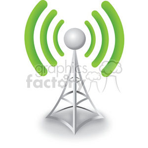 cell tower good signal clipart. Commercial use image # 383948