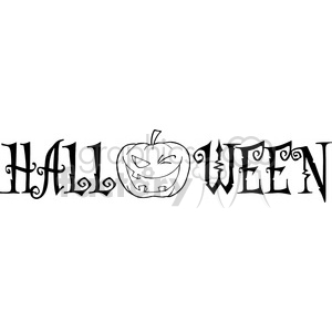 1932-Halloween-Text-With-Pumpkin-Winking clipart. Royalty-free image # 383978
