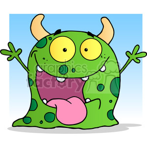 2484-Happy-Monster-Cartoon-Character clipart. Royalty-free image # 383983