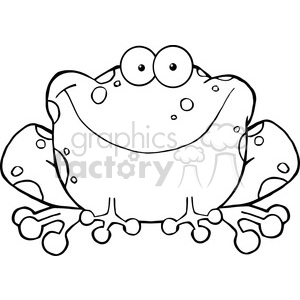 102490-Cartoon-Clipart-Happy-Frog-Cartoon-Character clipart. Commercial use image # 384018