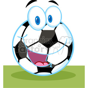 102549-Cartoon-Clipart-Cartoon-Soccer-Ball clipart. Royalty-free image # 384048